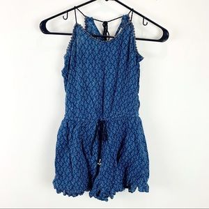 American Eagle Outfitters Blue Sleeveless Romper